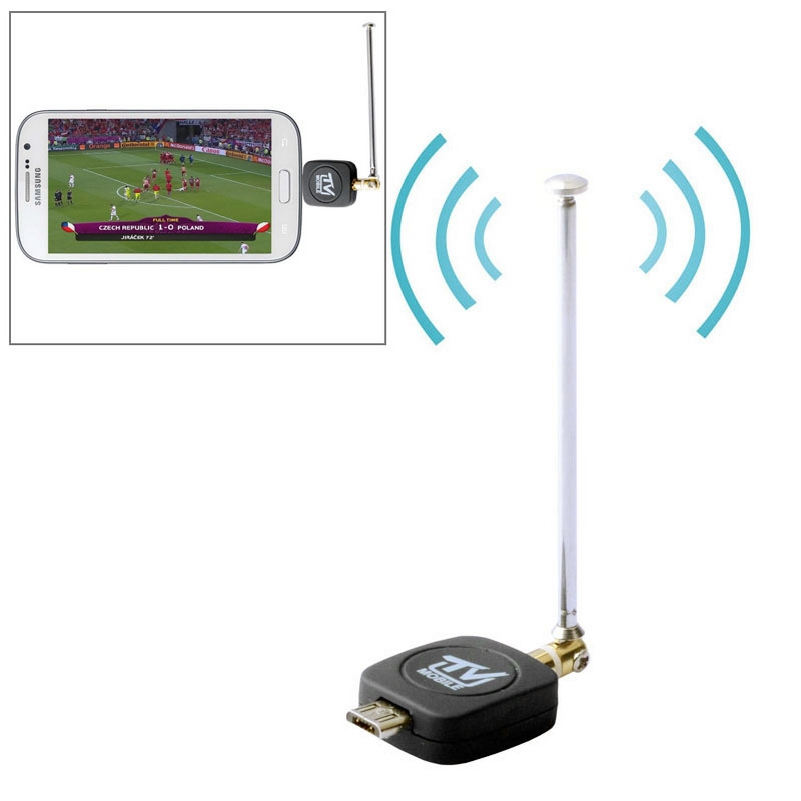 dvb t tv tuner micro usb for smartphone and android tablet black ebay. Black Bedroom Furniture Sets. Home Design Ideas